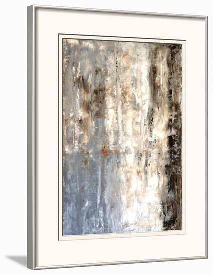 Brown And Grey Abstract Art Painting Framed Art Print by T30Gallery ...