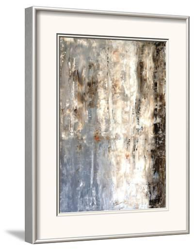 Brown And Grey Abstract Art Painting-T30Gallery-Framed Art Print