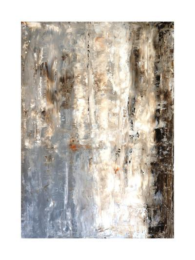 Brown And Grey Abstract Art Painting-T30Gallery-Art Print