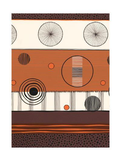 Brown and Orange Circles--Art Print