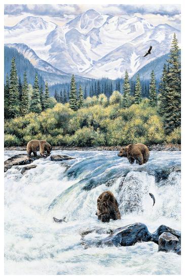 Brown Bear- Expectations-Andrew Kiss-Art Print