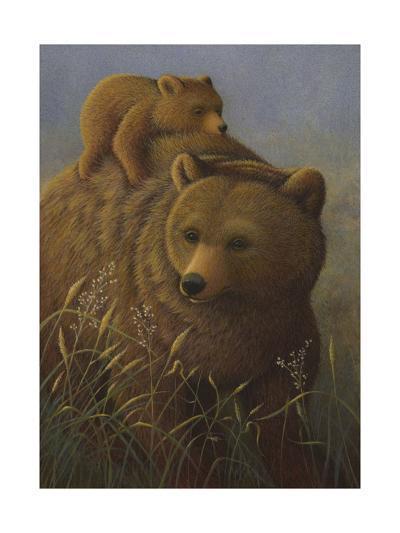Brown Bear with Cub--Art Print