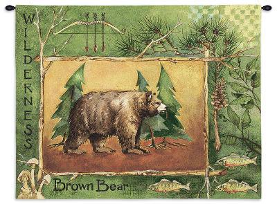 Brown Bear-Anita Phillips-Wall Tapestry