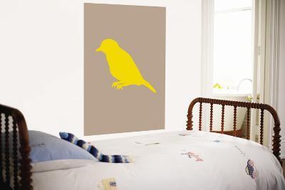 Brown Bird Silhouette-Avalisa-Wall Mural