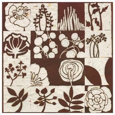 Brown Botanical 16-Patch-Andrea Davis-Giclee Print