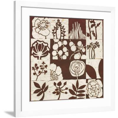 Brown Botanical 16-Patch-Andrea Davis-Framed Giclee Print