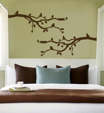 Brown Branch With Birds--Wall Decal