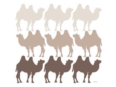 Brown Camel Family-Avalisa-Art Print
