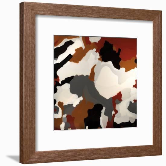 Brown Camo-Barbara Bilotta-Framed Art Print