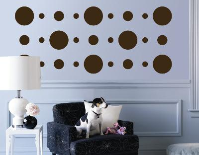 Brown Circles--Wall Decal