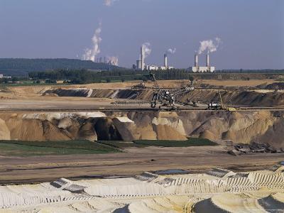 Brown Coal Mining, Bergheim, Near Cologne, Germany-Hans Peter Merten-Photographic Print