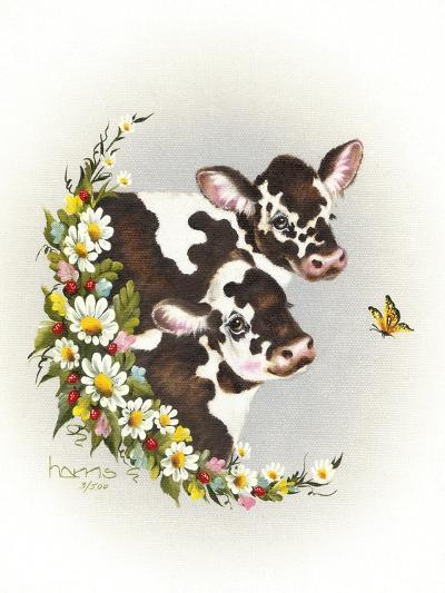 Brown Cows-Peggy Harris-Giclee Print