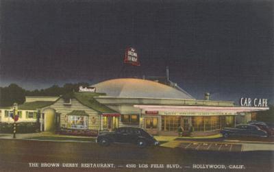 Brown Derby Restaurant at Night, Retro