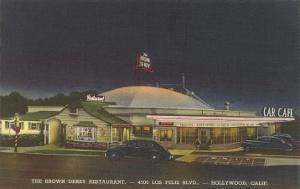 Brown Derby Restaurant at Night