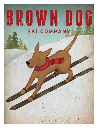 Brown Dog Ski Co-Wild Apple Portfolio-Art Print