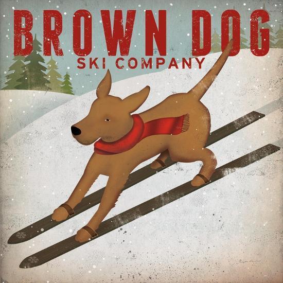 Brown Dog Ski Co-Ryan Fowler-Art Print