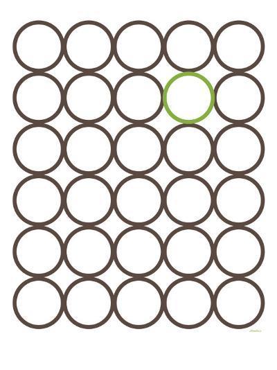 Brown Green Circles-Avalisa-Art Print