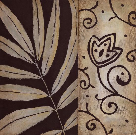 Brown Leaf II-Stephanie Marrott-Art Print