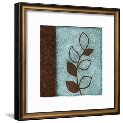 Brown Leaves Square Left-Kristin Emery-Framed Art Print