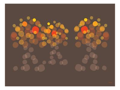 Brown Orange Wonder-Avalisa-Art Print