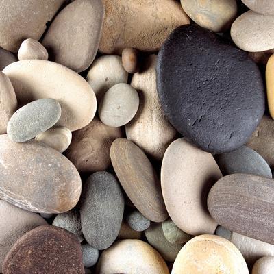 Brown Pebbles--Premium Photographic Print