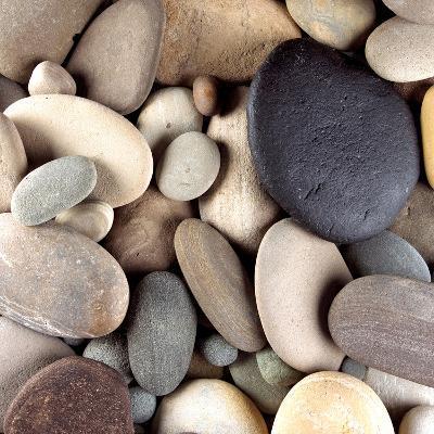 Brown Pebbles--Photographic Print