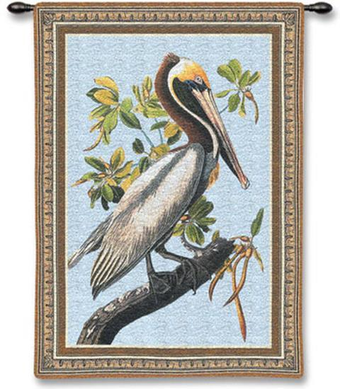 Brown Pelican-John James Audubon-Wall Tapestry
