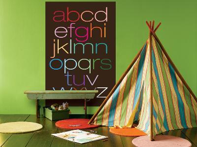 Brown Rainbow Alphabet-Avalisa-Giant Art Print