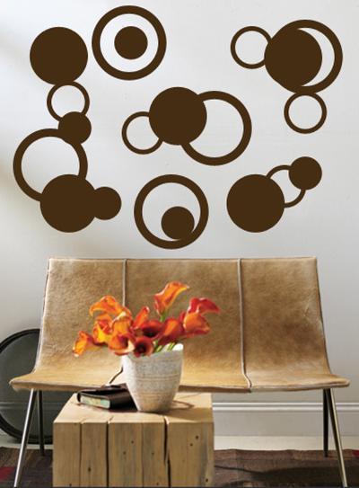 Brown Rings--Wall Decal
