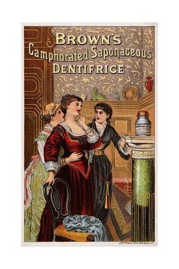 Brown's Camphorated Saponaceous Dentifrice Trade Card--Giclee Print