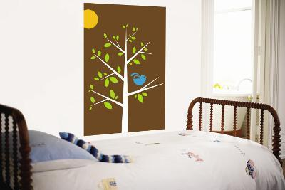 Brown Songbird-Avalisa-Wall Mural