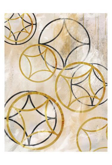 Brown Sparkling Spheres 1-Cynthia Alvarez-Art Print