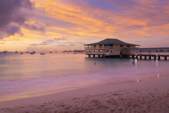 Brownes Beach sunset, St. Michael, Barbados, West Indies, Caribbean, Central America-Frank Fell-Photographic Print