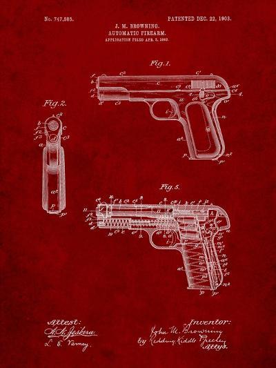 Browning No. 2 Handgun Patent-Cole Borders-Art Print