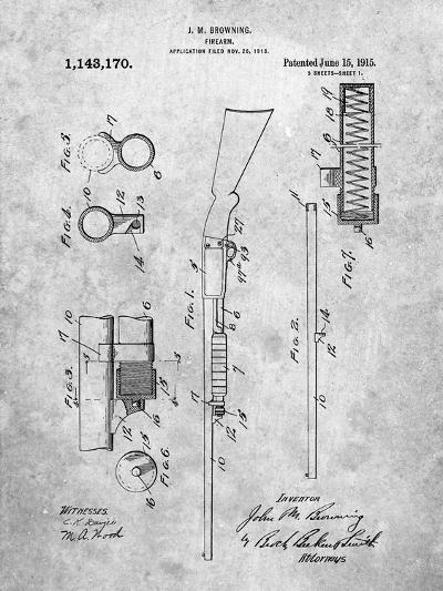 Browning Shotgun Patent-Cole Borders-Art Print