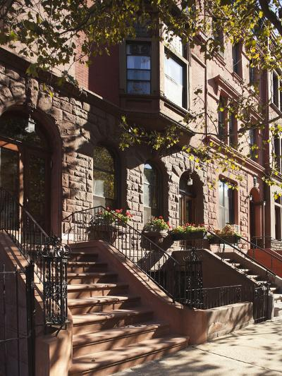 Brownstone Buildings in Harlem, Manhattan, New York City, USA-Jon Arnold-Photographic Print