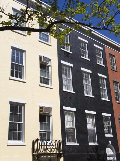 Brownstone Houses on Sullivan Street, Greenwich Village, Downtown Manhattan, New York, USA-Richard Cummins-Photographic Print