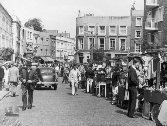 Browsing the Stalls at Portobello Road Market--Photographic Print