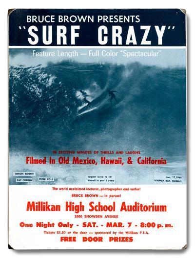 Bruce Brown Films - Surf Crazy--Wood Sign