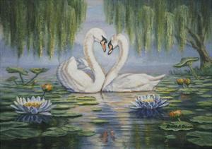 Swan Love by Bruce Dumas