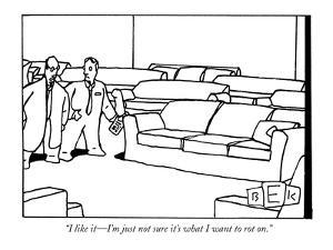 """""""I like it?I'm just not sure it's what I want to rot on."""" - New Yorker Cartoon by Bruce Eric Kaplan"""
