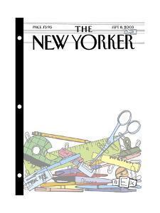 The New Yorker Cover - September 8, 2003 by Bruce Eric Kaplan