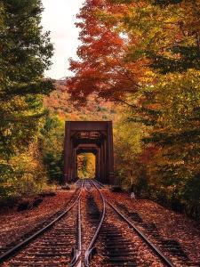 New England Train Trestle Bridge by Bruce Getty