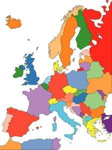 Europe With Editable Countries by Bruce Jones