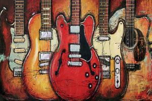 Guitar Collage by Bruce Langton