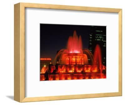 Buckingham Fountain at Night, Chicago, Illinois