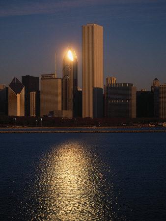 Skyline at Sunrise, Chicago