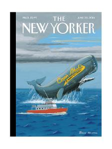Cap?n Ahab?s - The New Yorker Cover, June 30, 2014 by Bruce McCall