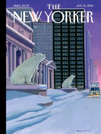 Polar Bears on Fifth Avenue - The New Yorker Cover, January 13, 2014