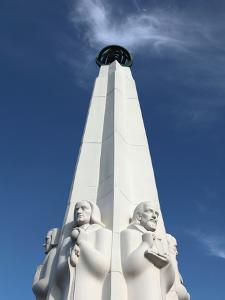 A Closed Up View of Astronomers Monument at Griffith Observatory, Los Angeles, California, Usa by Bruce Yuanyue Bi